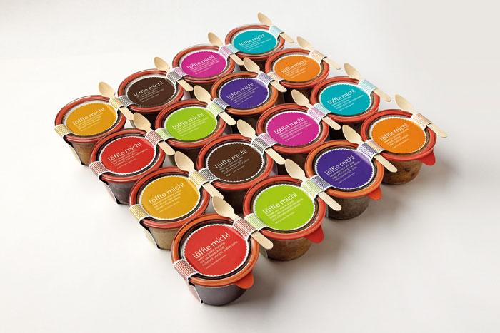 """löffle mich!"" Cakes In Jars - The Dieline: The World's #1 Package Design Website -"