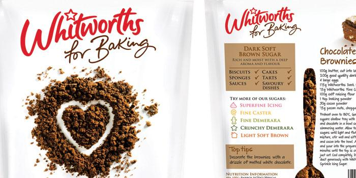 Whitworth's for Baking range of sugars - The Dieline: The World's #1 Package Design Website -