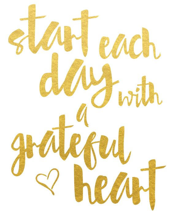 Start Each Day With A Grateful Heart Print on Inspirationde