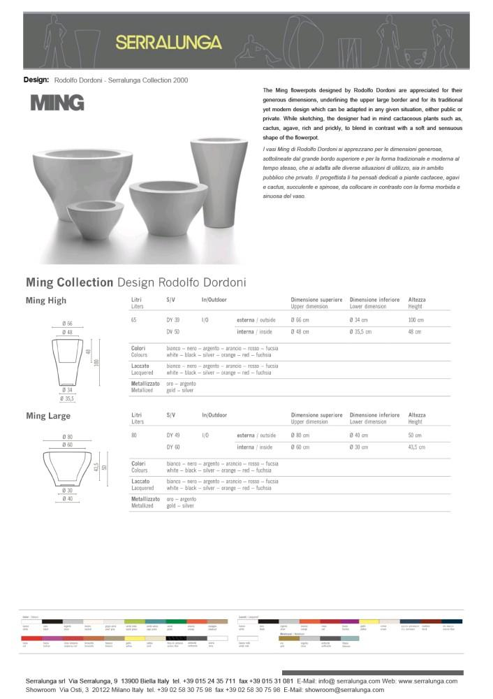 MING - SERRALUNGA - (Version JPG) - PDF Catalogues | Documentation | Brochures