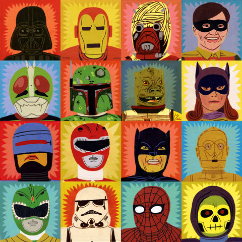 Heroes and Villains Art Print by Jack Teagle | Society6