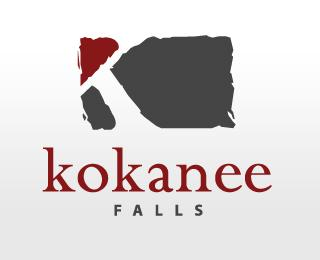 Kokanee Falls - Logos - Creattica
