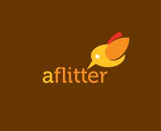 aflitter - Logos - Creattica