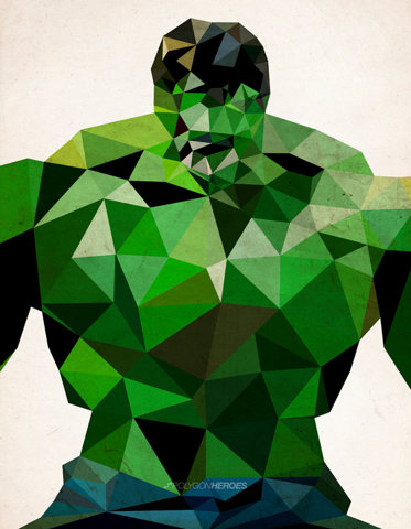 Polygon Heroes - Hulk Art Print by TheBlackeningCo | Society6