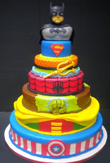 Batman Cake Hulk Robin Spider man Superman - PicShip