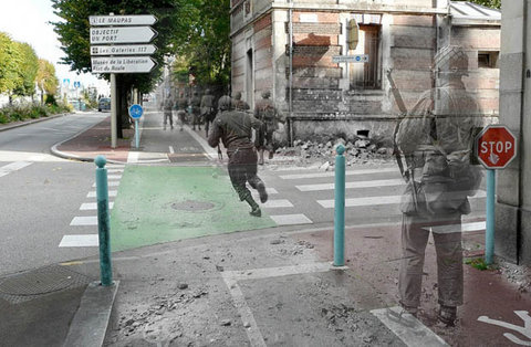 Ghosts of WWII: Photos of Soldiers Seen in the Streets of Modern Day France