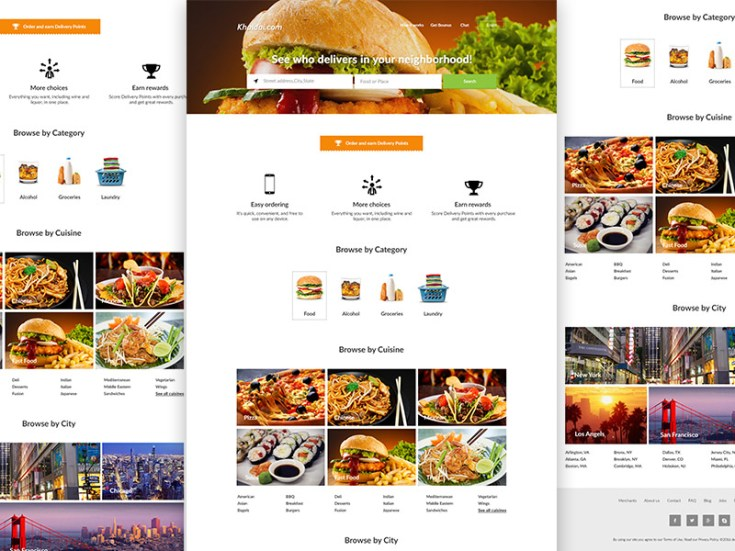 Food delivery website template free download freebiesjedi food delivery website template free download freebiesjedi pronofoot35fo Images