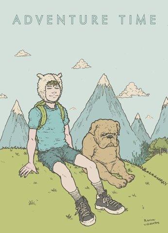 Adventure Time Art Print by Ramon Villalobos   Society6