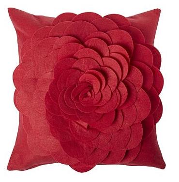 Hot Buy of the Day : Felt Rose Cushion