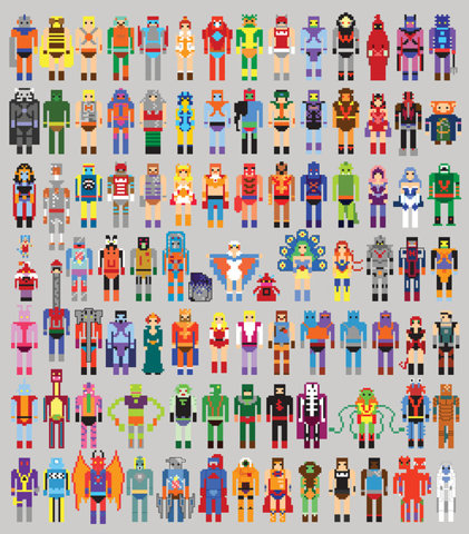 Pixel Masters Art Print by Bradlinf   Society6