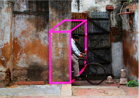 Street art made from tape by Aakash Nihalani — Lost At E Minor: For creative people