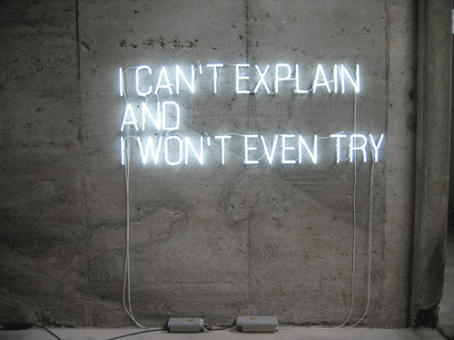 I Can't Explain And I Won't Even Try | Stowe Boyd | Flickr