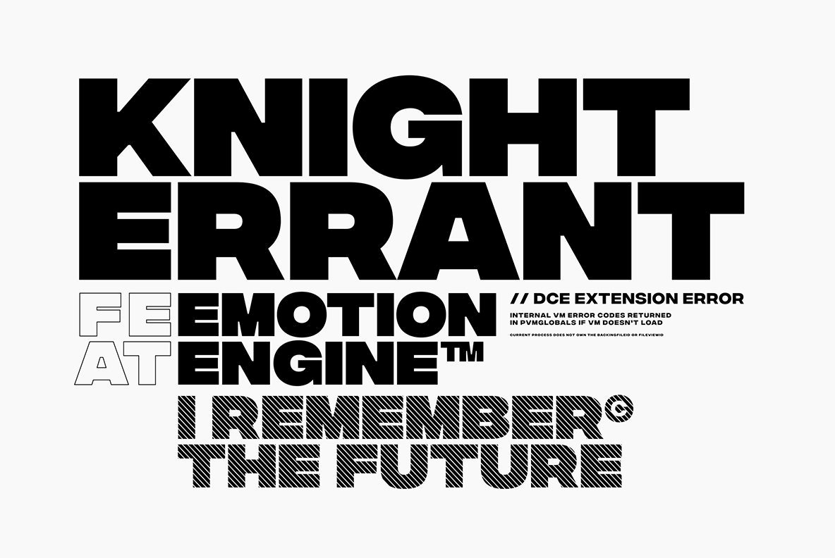 A Bold, Intense Sans Serif From Connary Fagan: Integral CF | YouWorkForThem