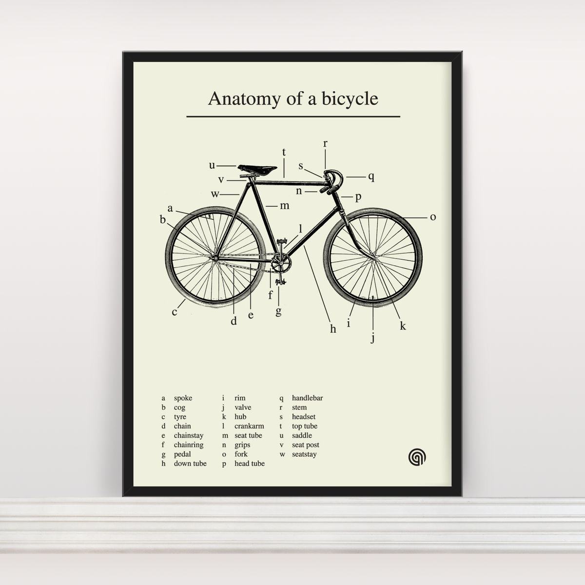 Bicycle anatomy diagram