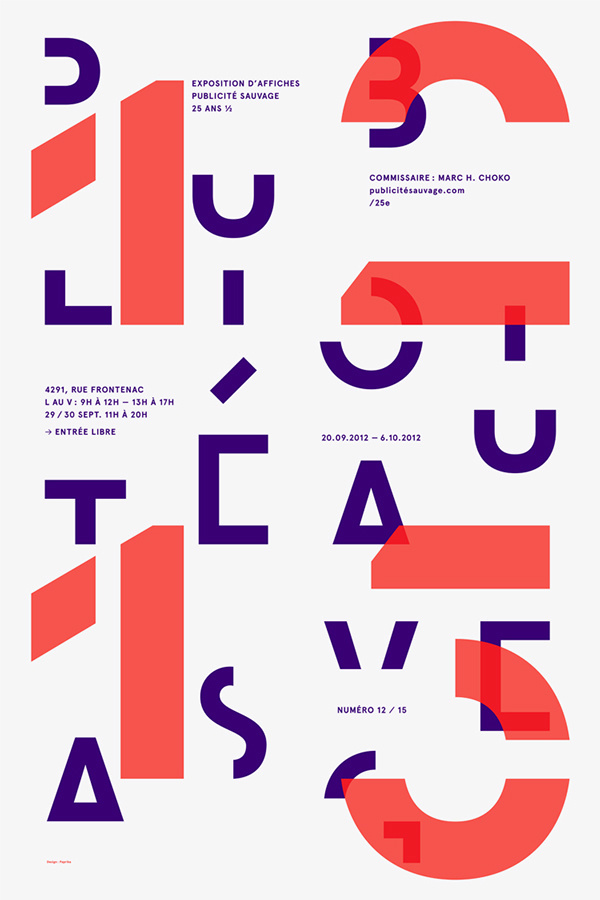 Wild Advertising / 25th Anniversary Exhibition Series in Typography