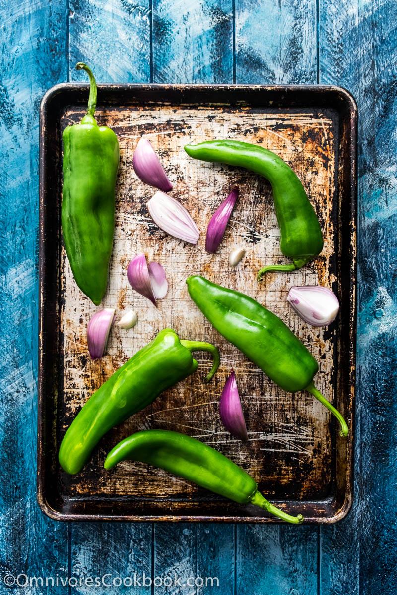 Thai-Style Grilled Chile Salsa (Nam Prik Num)   Omnivore's Cookbook