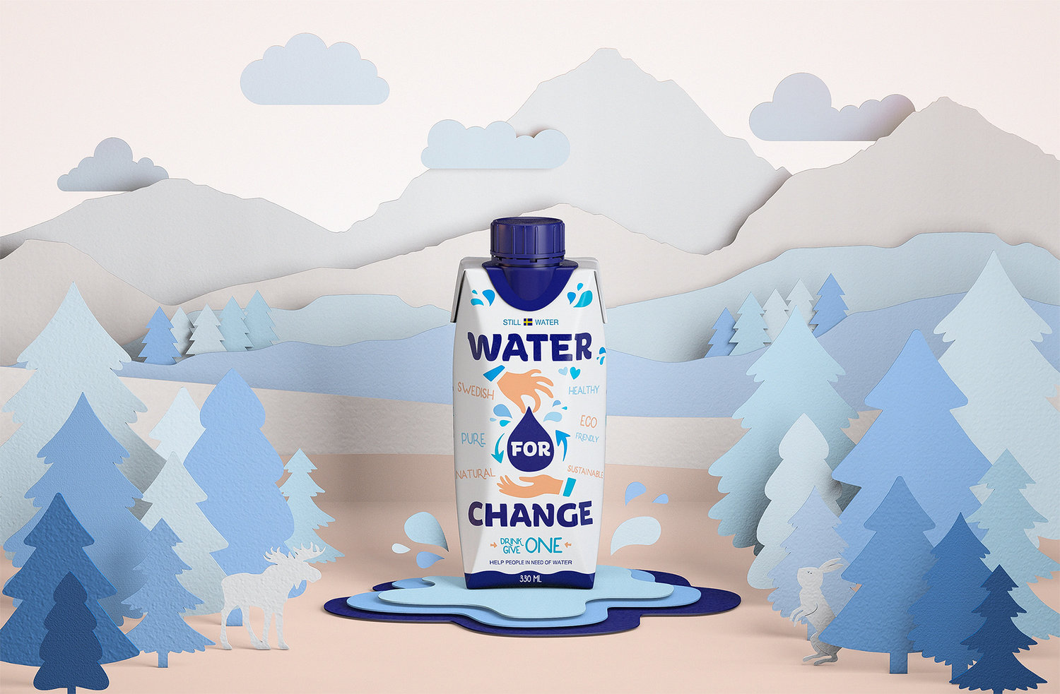 This Recyclable Water Carton Will Make You Ditch Plastic Bottles Forever — The Dieline | Packaging & Branding Design & Innovation News
