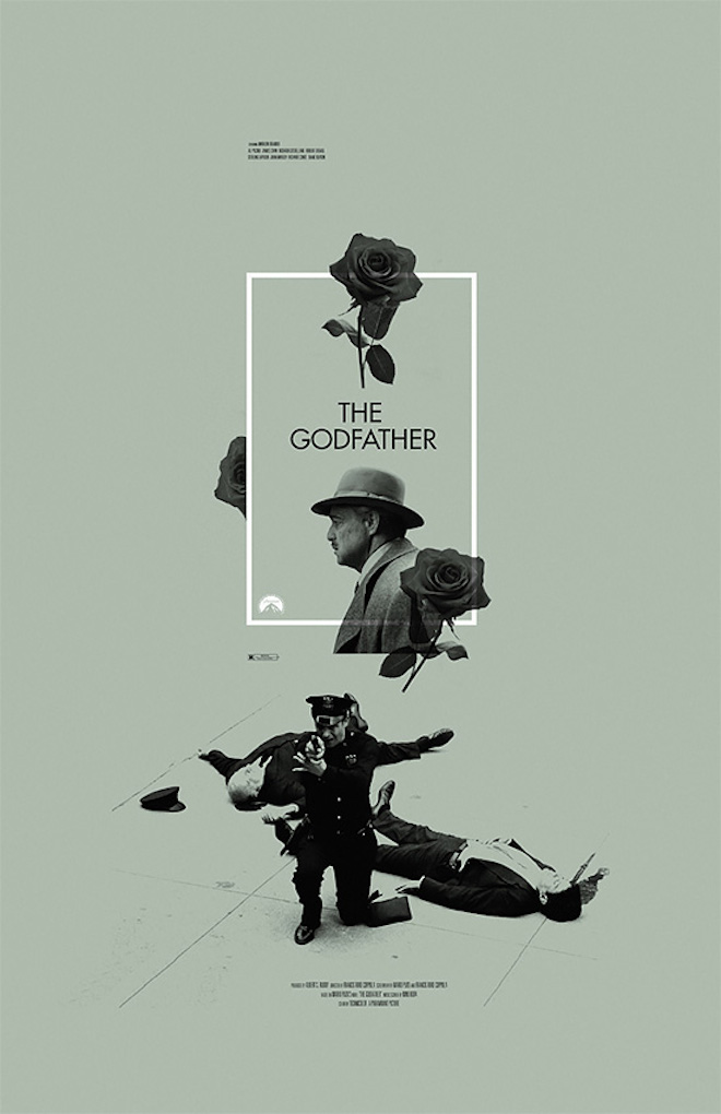 The Godfather alternative movie poster designed by Adam Juresko on Inspirationde