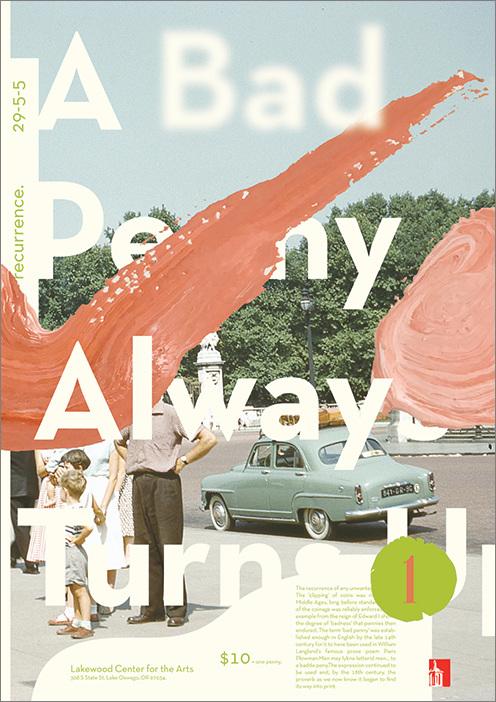 A Bad Penny Poster Design on Inspirationde
