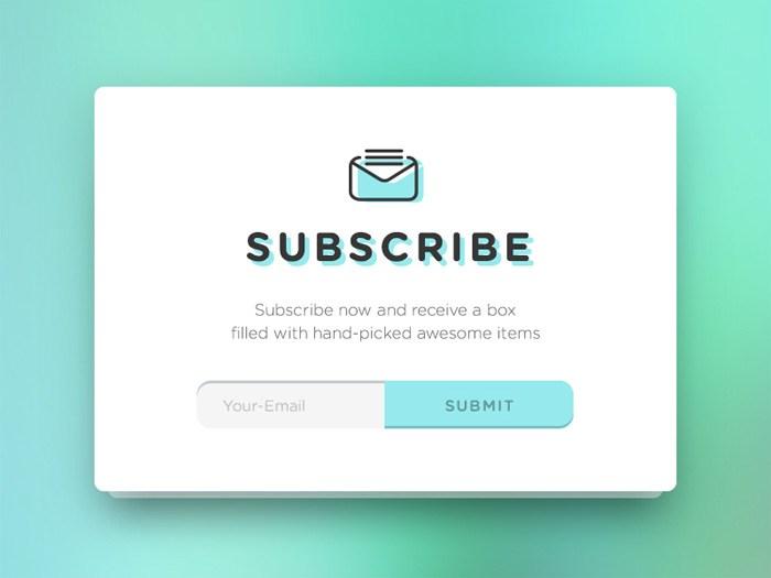 Subscribe Form Widget PSD - Free Download | Freebiesjedi