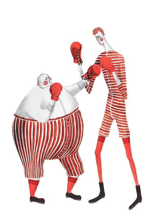 Rosanna Tasker, Circus Boxers in Illustration