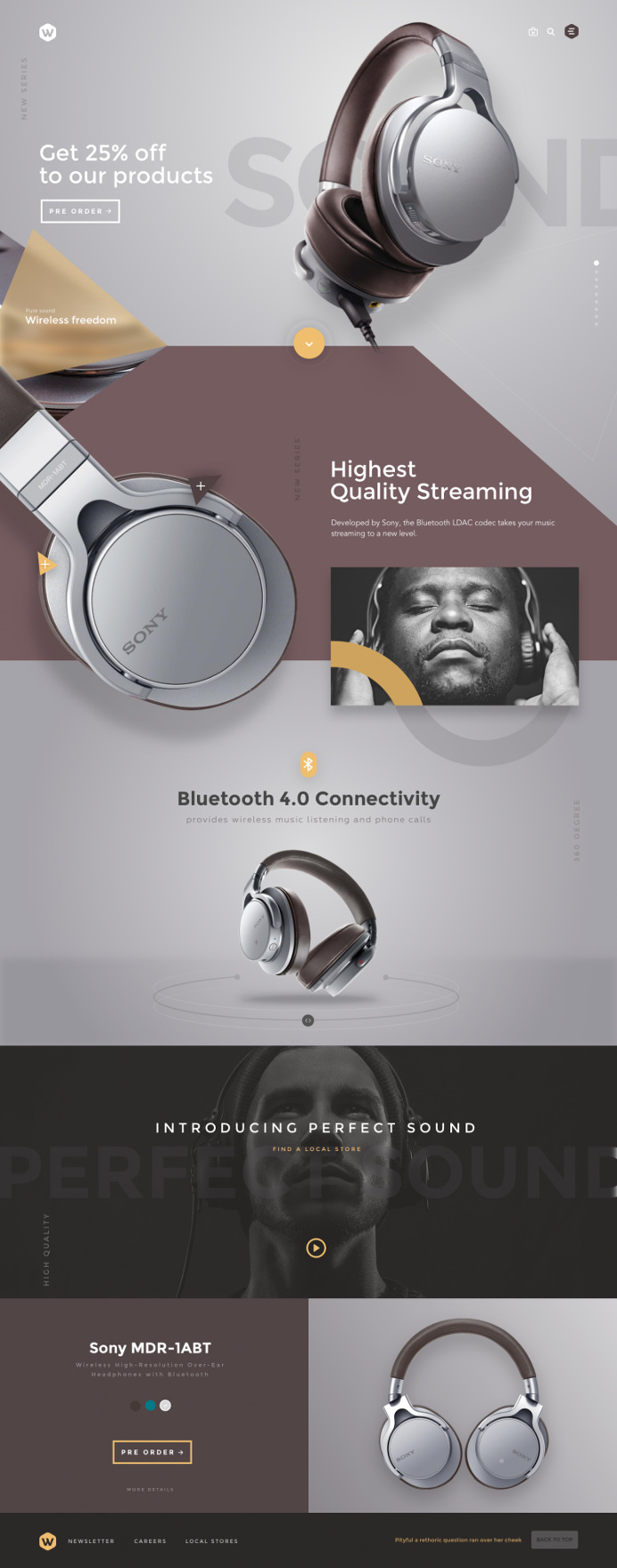 Headphones by Sencer in Web design
