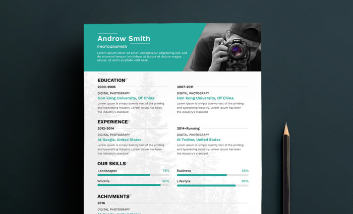 Free Photographer Resume Template - Free Resume Template