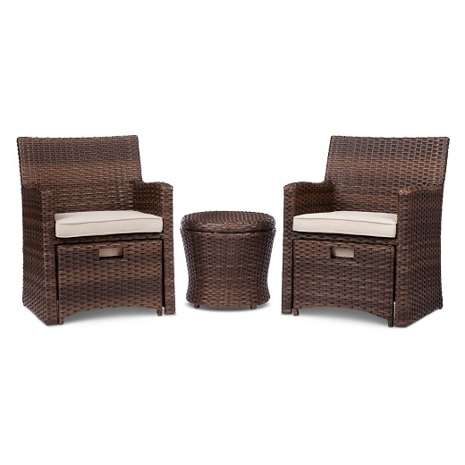 Delightful Halsted 5 Piece Wicker Small Space Patio Furniture Set   Threshold? : Target
