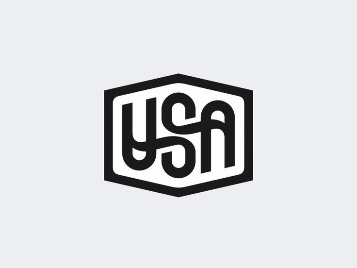 Usa ambigram by Sergey Yakovenko
