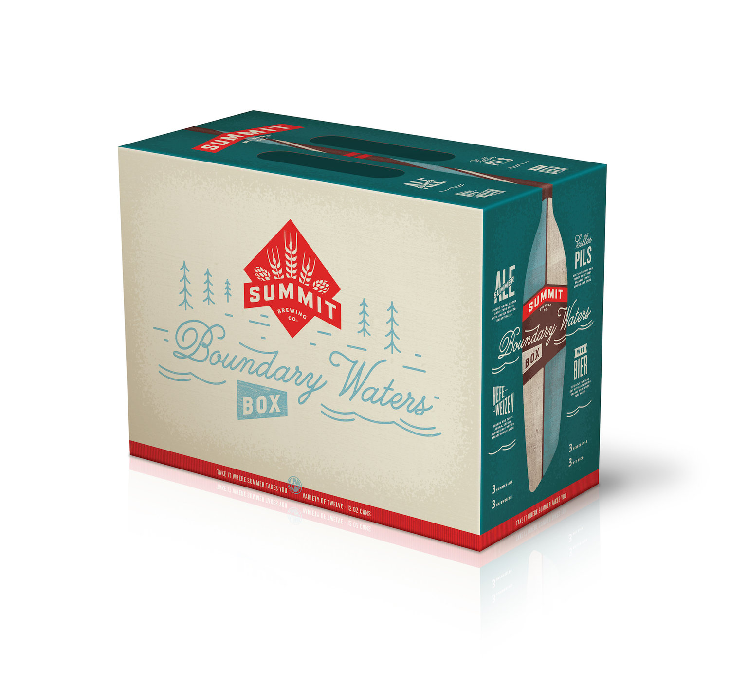 Get Ready for Summer with Summit Brewing Co.'s Boundary Waters — The Dieline | Packaging & Branding Design & Innovation News