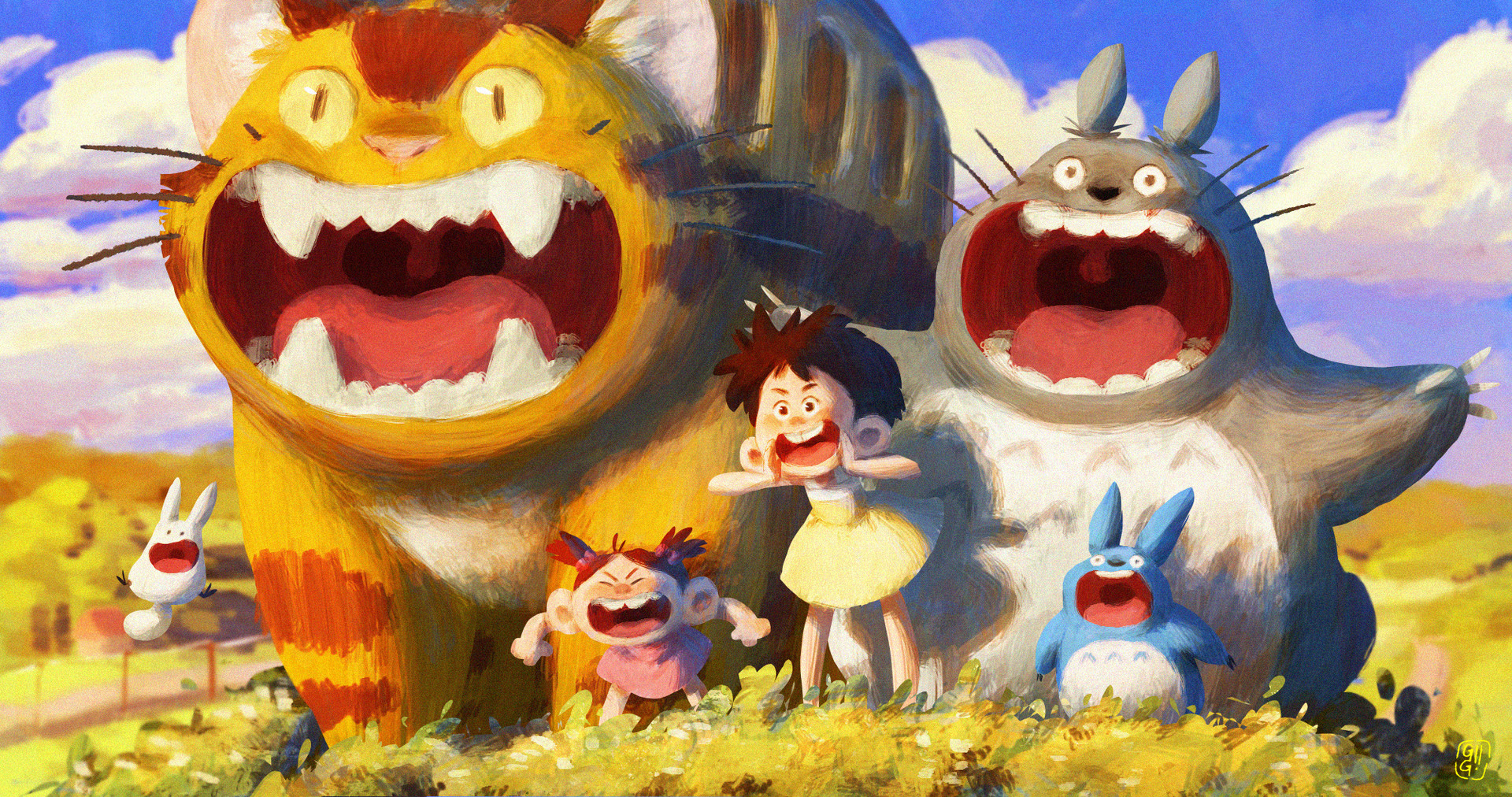 ArtStation - My Neighbor Totoro, Gop Gap