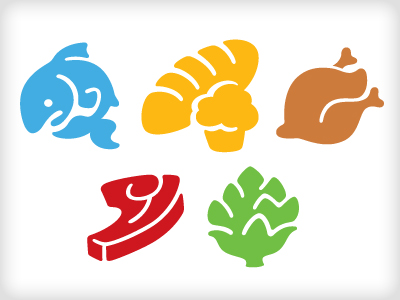 Food Icons by Von Glitschka