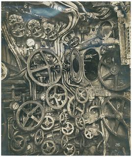 German Submarine, UB-110. Photo of Control room looking af… | Flickr