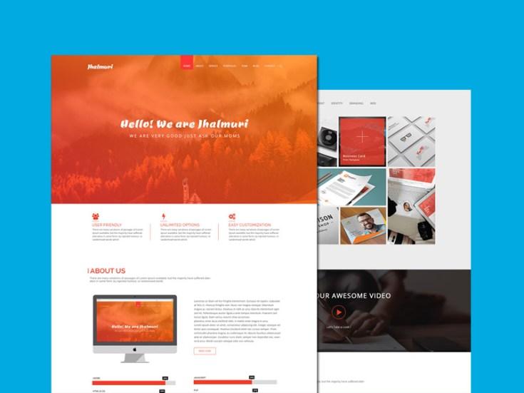 Jhalmuri : Free Single Page Portfolio PSD Template - Free Download | Freebiesjedi