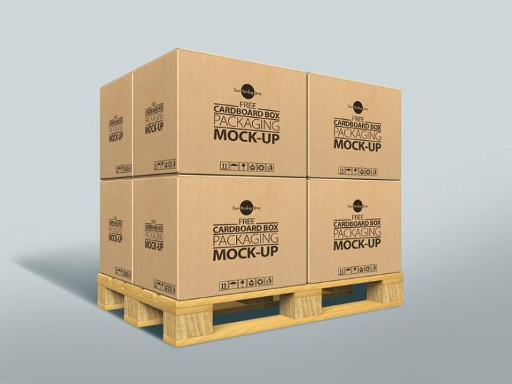 Free Cardboard Box Packaging MockUp - Free Download | Freebiesjedi