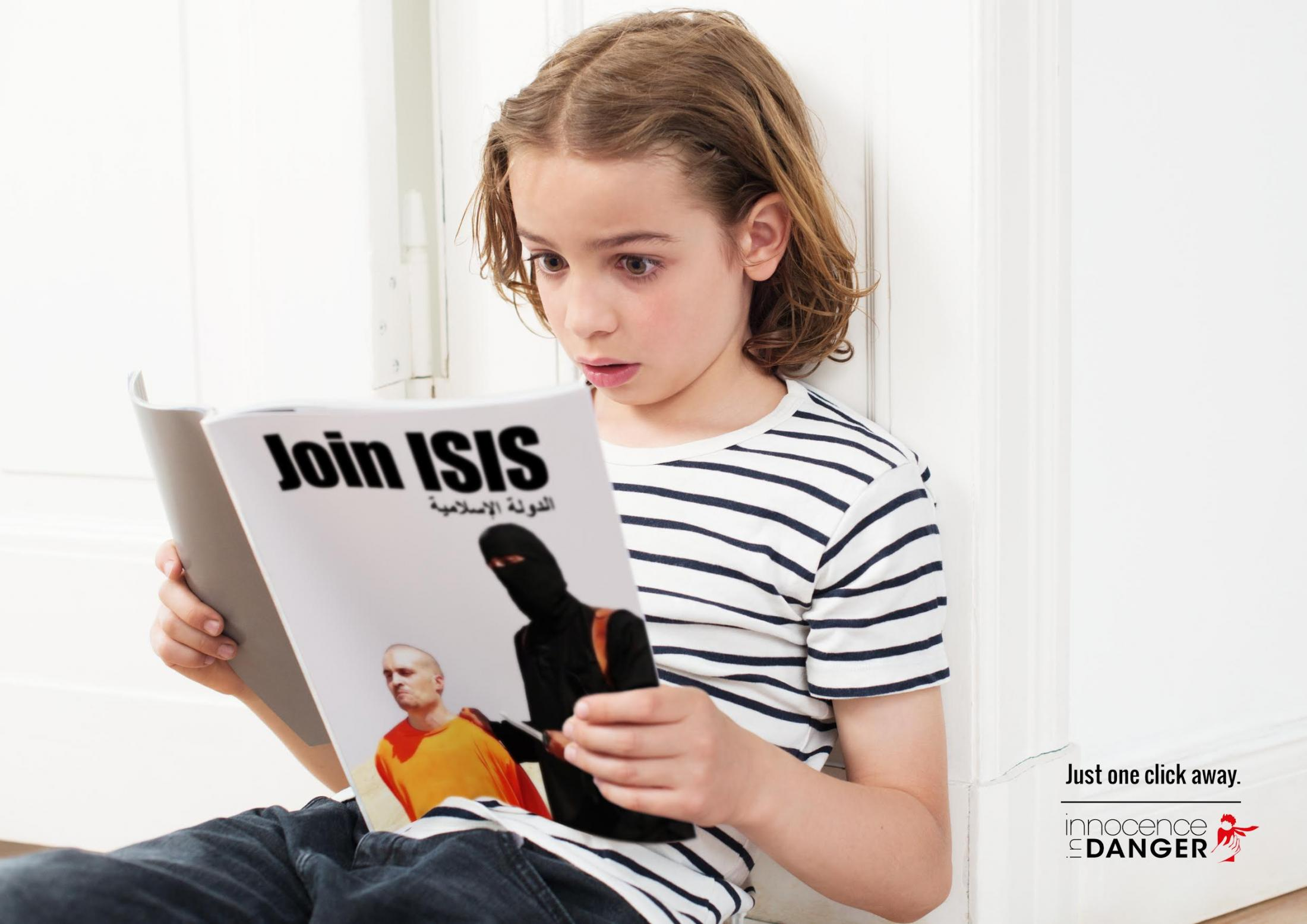 Innocence In Danger Print Advert By Glow: Just one click away, ISIS | Ads of the World™