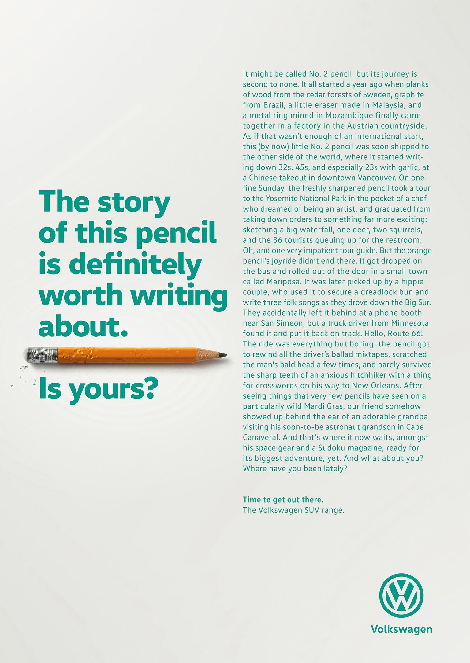 Volkswagen Print Advert By DDB: Pencil | Ads of the World™