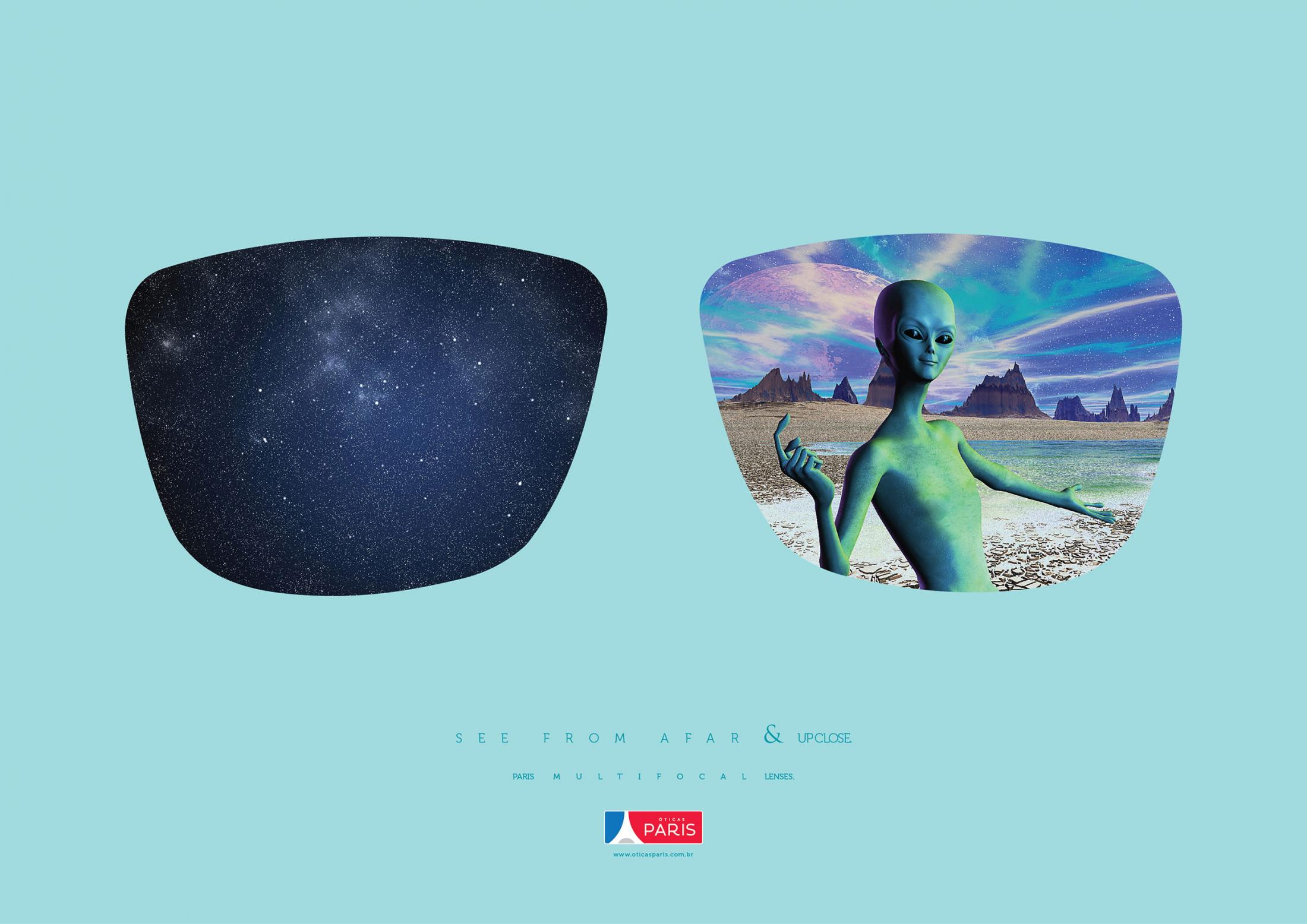 Óticas Paris Print Advert By MP Publicidade: Alien | Ads of the World™
