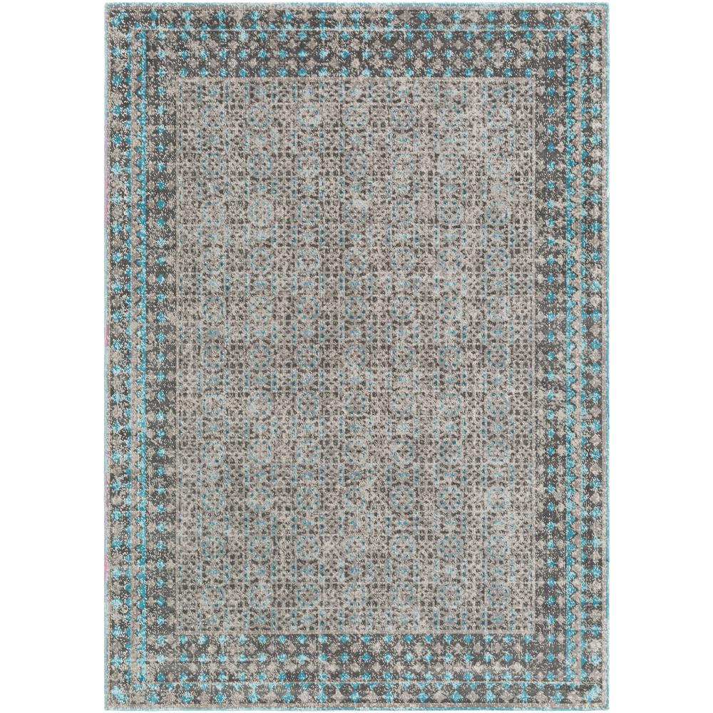 Surya Tessera Teal 7 ft. 10 in. x 10 ft. 3 in. Indoor Area Rug-TSE1014-710103 - The Home Depot
