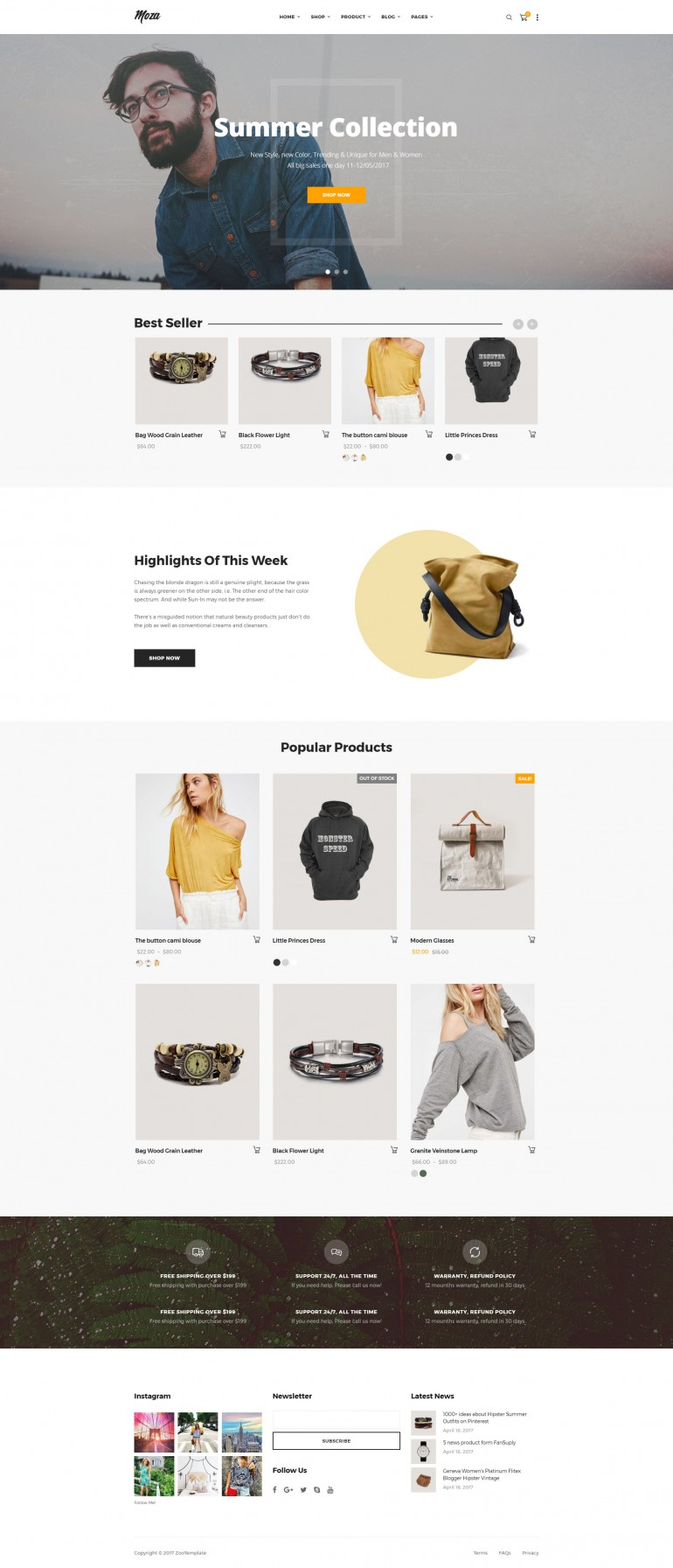 Moza – Minimal Shop on Inspirationde