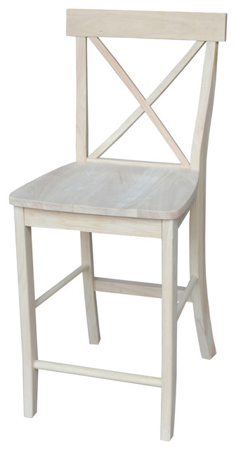 X-Back Stool - Farmhouse - Bar Stools And Counter Stools - by International Concepts