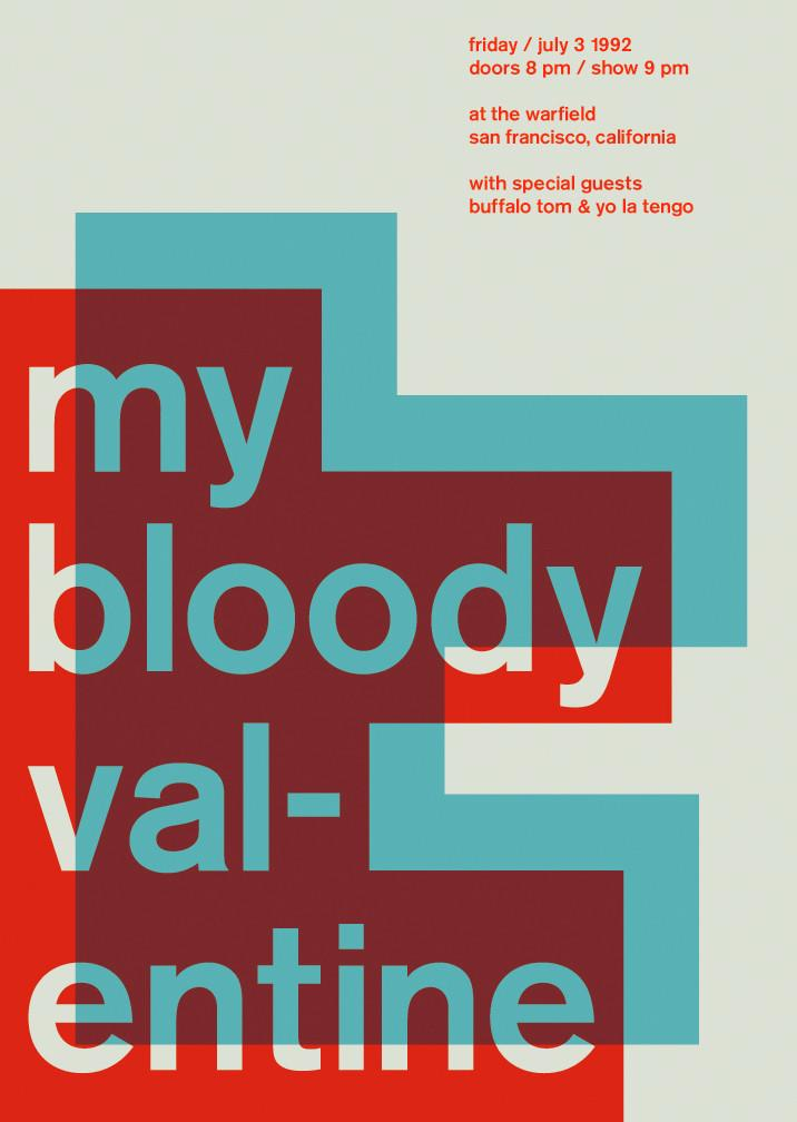 My Bloody Valentine at the Warfield, 1992 on Inspirationde