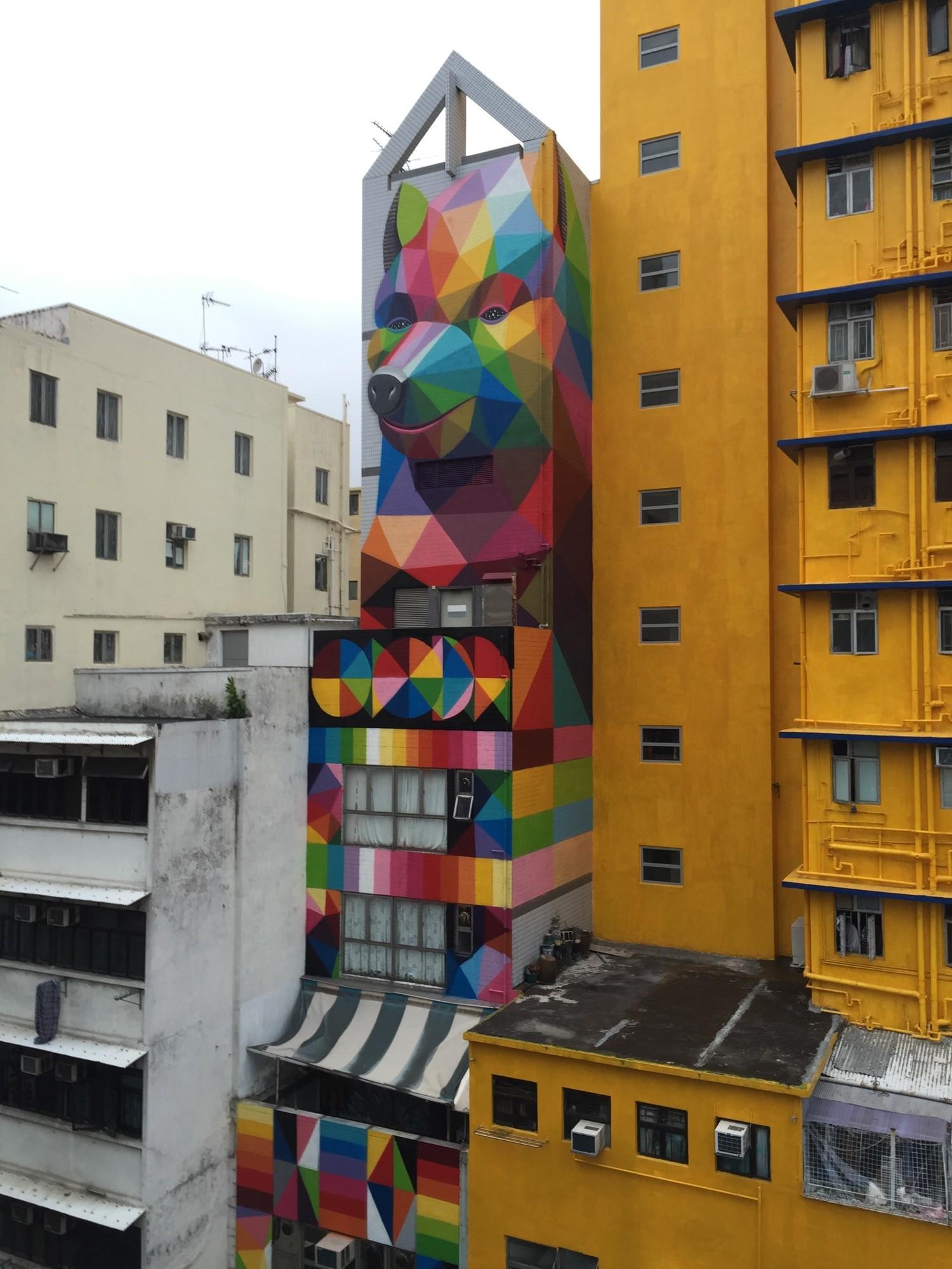 New Mural by Okuda in Hong-Kong – The VandalList