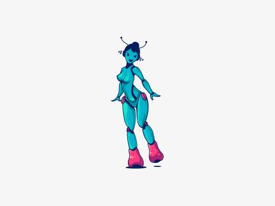 Sexy Robot Logo by Cajvanean Alexandru