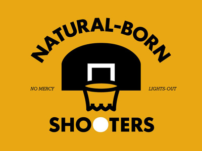 Natural Born Shooters T-graphic by Brian Lindstrom