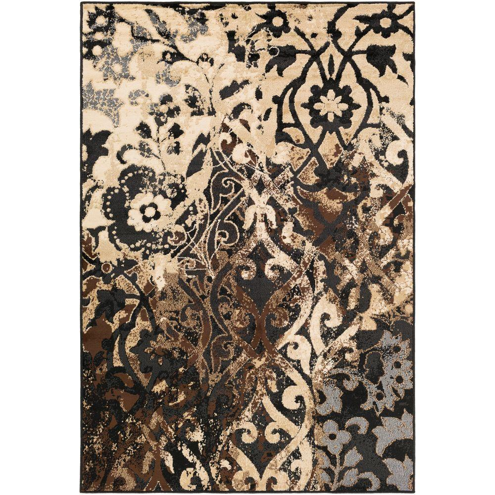 Artistic Weavers Xenvuir Black 8 ft. 10 in. x 12 ft. 9 in. Indoor Area Rug-S00151090014 - The Home Depot