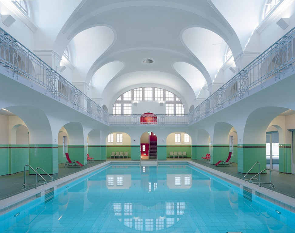 Swimming-Hall in Gotha, Germany. : AccidentalWesAnderson
