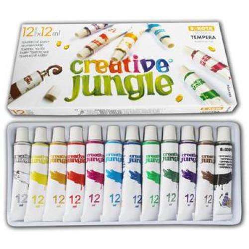 12 szín? tempera festék 12 ml alumínium tubusban - Creative Jungle - Tempera készlet Ft Ár 799 Ft Ár Tempera festék - Tempera készlet