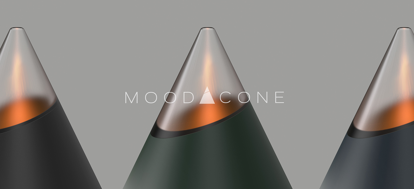 MOOD CONE - Mood light candle on
