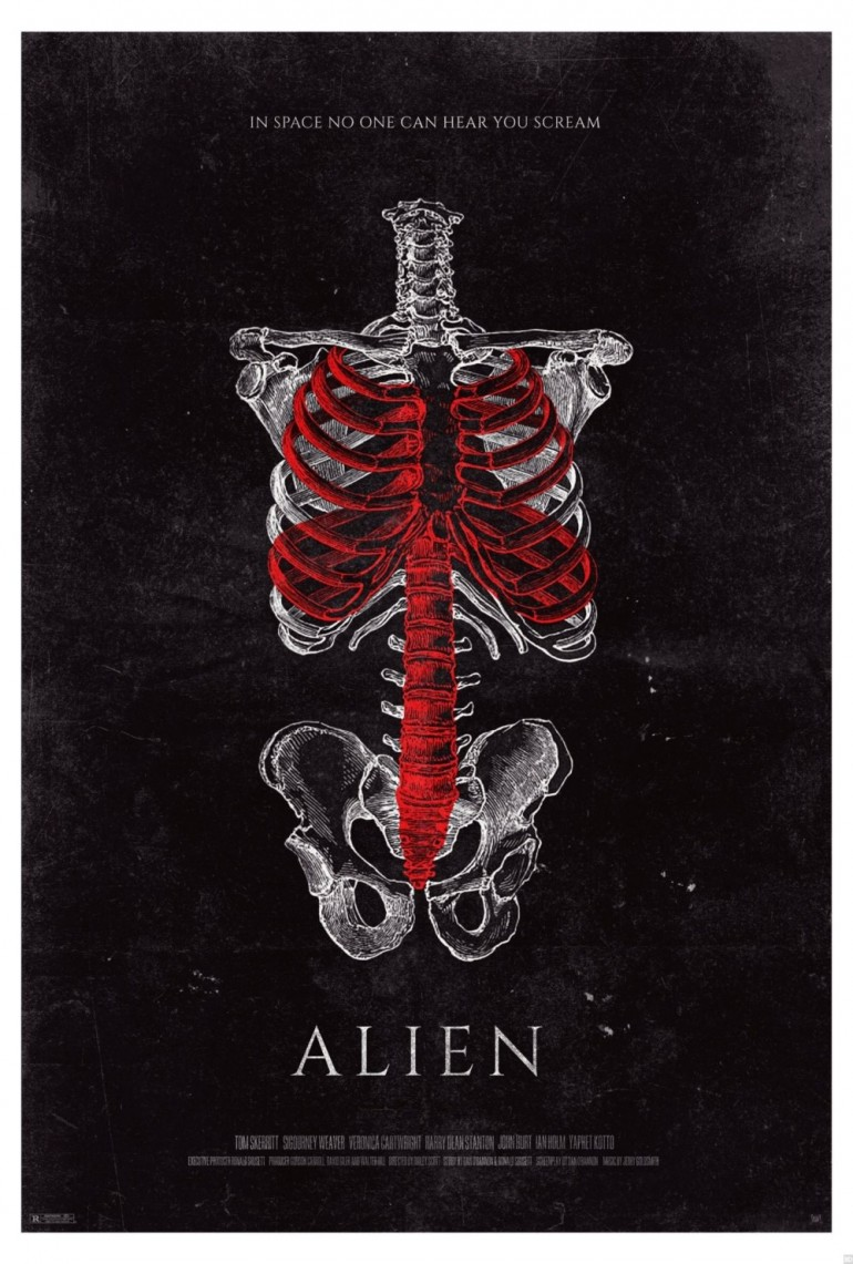 Two Brilliant 'Alien' Fan Posters Take Us Inside the Human Body on Inspirationde